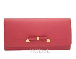 プラダ 財布 リボン ピンク レディース 長財布 人気 1M1132 アウトレット 商品コード PRADA-OUTLET-142 商品画像 1