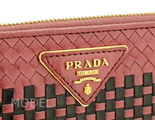 プラダ 財布 アウトレット 長財布 ラウンドファスナー  ピンク メッシュ  1M0506  商品コード PRADA-OUTLET-153 商品画像 3