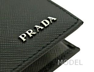 プラダ 財布 アウトレット 二つ折り財布 メンズ 黒/ブラック バイカラー 2M0738 商品コード PRADA-OUTLET-159 商品画像 3