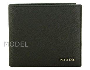 プラダ 財布 メンズ 二つ折り財布 黒/ブラック アウトレット 2M0738 商品コード PRADA-OUTLET-160 商品画像 1