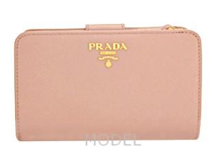 プラダ 財布 レディース 二つ折り財布 サフィアーノ ピンク 1M1225 アウトレット 商品コード PRADA-OUTLET-168 商品画像 1