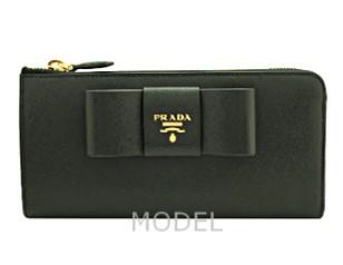 プラダ 財布 レディース リボン L字ファスナー 長財布 サフィアーノ 1ML183 アウトレット 商品コード PRADA-OUTLET-176 商品画像 1