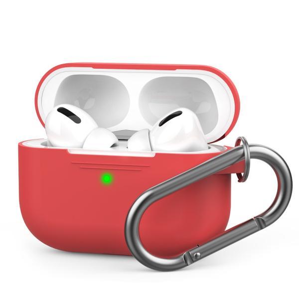 AirPods ケース おしゃれ 本体 カバー シリコン エアーポッズ  高品質シリコン ストラップ カラビナ で携帯に便利 AhaStyle|mokku-shop|10