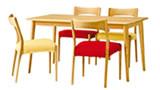 クローバー長方形テーブル