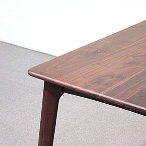 画像3:ウォールナットダイニングテーブル【スローライフ 1400 長方】5点セット/天然木食卓テーブル