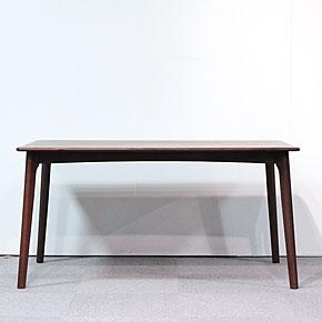 画像4:ウォールナットダイニングテーブル【スローライフ 1400 長方】5点セット/天然木食卓テーブル