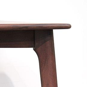 画像5:ウォールナットダイニングテーブル【スローライフ 1400 長方】5点セット/天然木食卓テーブル