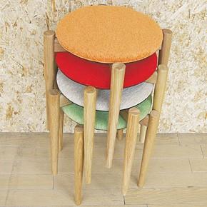 画像2:スツール クローバ スタッキング 重ね対応 椅子 チェア ダイニングスツール シンプル お洒落