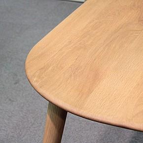 画像2:クローバー楕円形ダイニングテーブル 1500 5点セット/天然木食卓テーブル