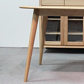 画像9:クローバー楕円形ダイニングテーブル 1500 5点セット/天然木食卓テーブル