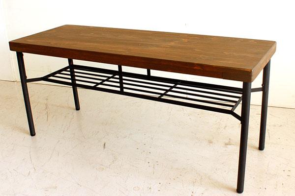 画像1:ダイニングベンチ ベンチ ケルト kelt 古材家具 アイアン家具 ベンチチェア 食卓椅子