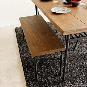 画像3:ダイニングベンチ ベンチ ケルト kelt 古材家具 アイアン家具 ベンチチェア 食卓椅子