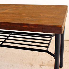 画像5:ダイニングベンチ ベンチ ケルト kelt 古材家具 アイアン家具 ベンチチェア 食卓椅子