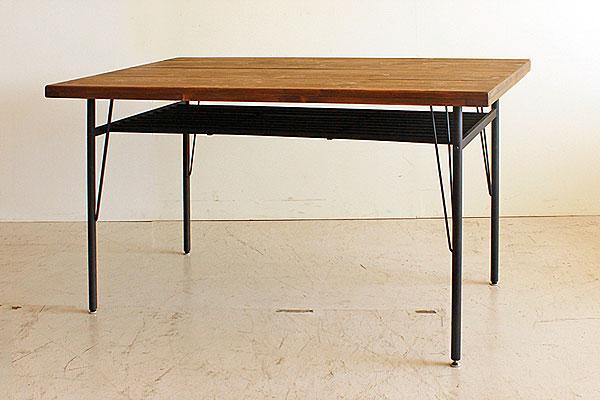 画像3:ケルト ダイニングテーブル 140 5点セット kel 古材家具 アイアン家具 ダイニングセット 食卓テーブル ベンチ