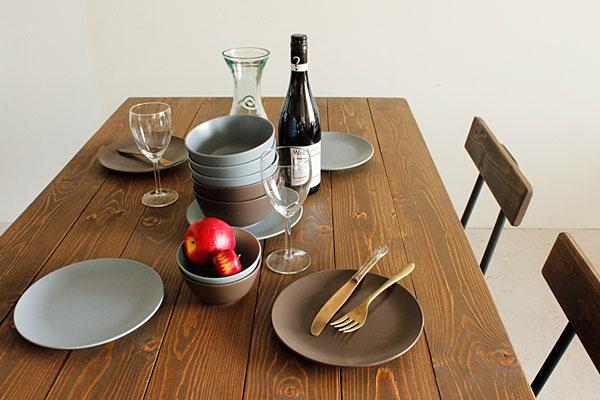 画像2:ダイニングテーブル ケルト 140 kelt 古材家具 アイアン家具 食卓テーブル センターテーブル