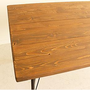 画像4:ダイニングテーブル ケルト 140 kelt 古材家具 アイアン家具 食卓テーブル センターテーブル