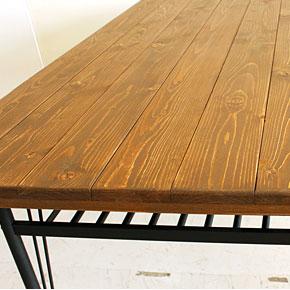 画像5:ダイニングテーブル ケルト 140 kelt 古材家具 アイアン家具 食卓テーブル センターテーブル