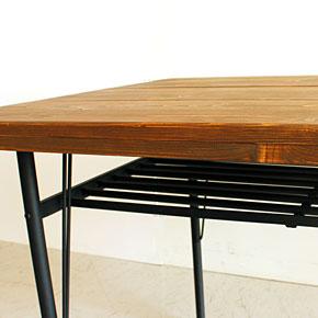 画像6:ダイニングテーブル ケルト 140 kelt 古材家具 アイアン家具 食卓テーブル センターテーブル
