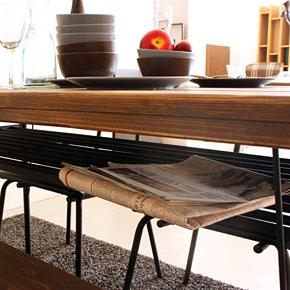 画像7:ダイニングテーブル ケルト 140 kelt 古材家具 アイアン家具 食卓テーブル センターテーブル