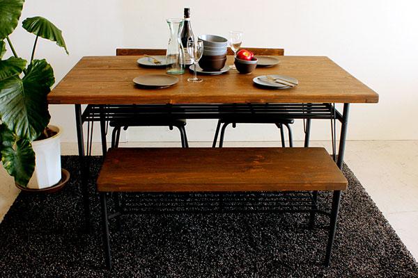 画像9:ダイニングベンチ ベンチ ケルト kelt 古材家具 アイアン家具 ベンチチェア 食卓椅子