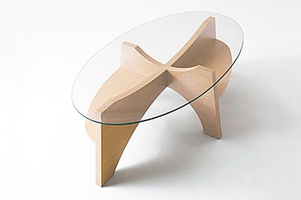画像1:オーバルテーブル センターテーブル LE-454