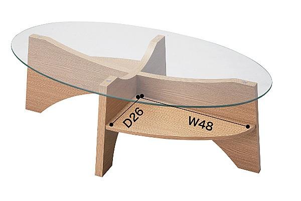 画像3:オーバルテーブル センターテーブル LE-454