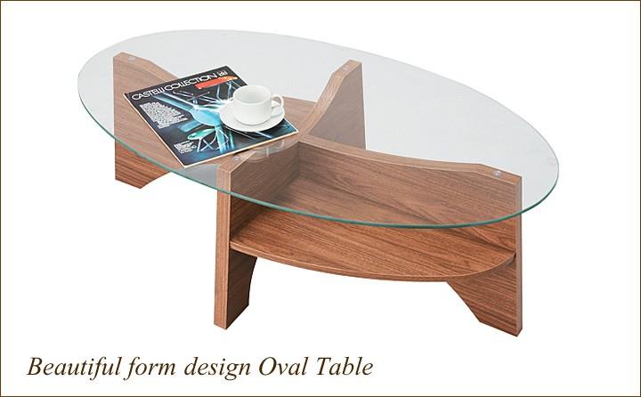 イメージ画像:オーバルテーブル センターテーブル LE-454