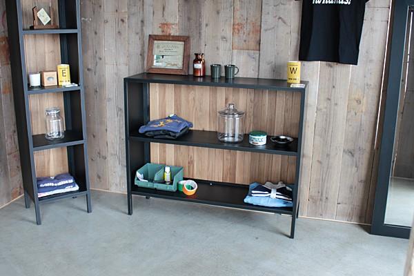 画像1:シェルフ ルモ ラック 棚 LMO SHELF W ディスプレイラック ラック 120 収納棚 MOSH
