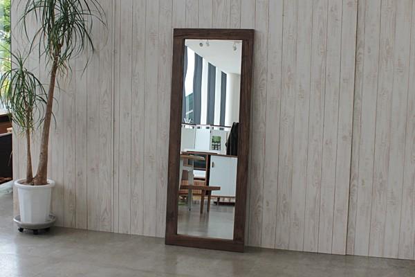 画像1:ミラー アル 姿見 AR MIRROR 鏡 全身鏡 鏡 ニレ古材 ビンテージ MOSH