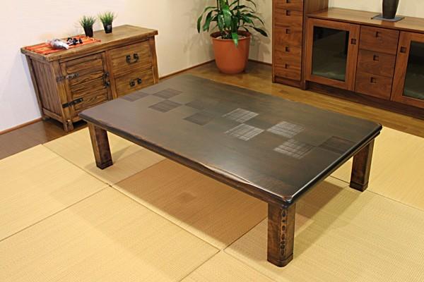 画像1:高級材 こたつ 千年KR 135 座卓 こたつ コタツ 家具調こたつ 炬燵 座卓 こたつテーブル
