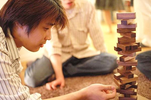画像1:オン・ザ・ブロック 木製 (名前入れ1ヵ所込) 手作りおもちゃ