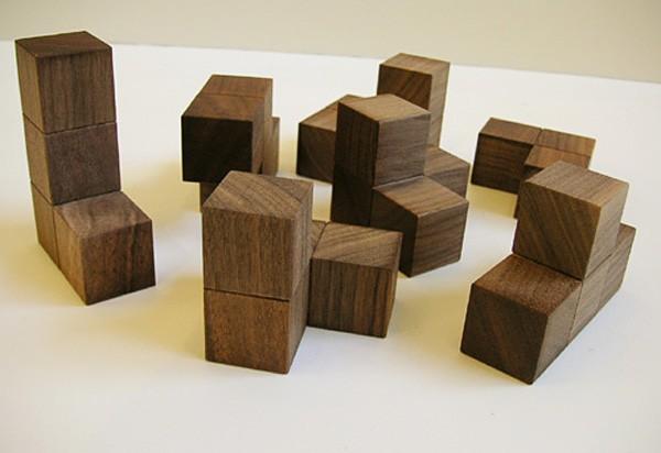 画像1:ソーマキューブ 木製 手作りおもちゃ 手作りおもちゃ