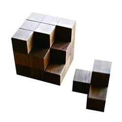 画像:ソーマキューブ 木製 手作りおもちゃ 手作りおもちゃ