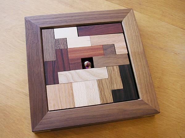 画像1:ポリキューブパズル12P 木製 手作りおもちゃ 手作りおもちゃ