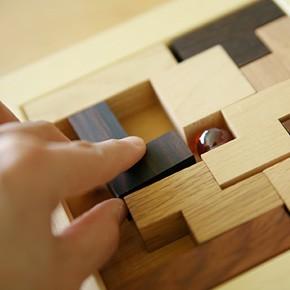 画像2:ポリキューブパズル12P 木製 木のおもちゃ 手作りおもちゃ