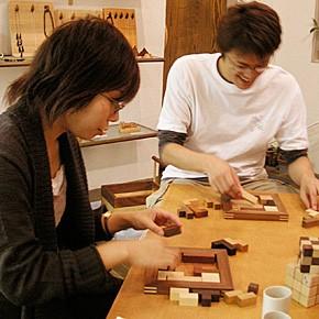 画像4:ポリキューブパズル12P 木製 木のおもちゃ 手作りおもちゃ