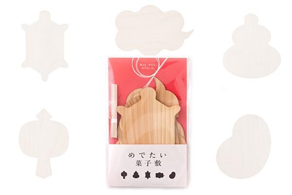 画像10:木の雑貨 めでたい菓子敷 木製雑貨 菓子敷き ギフト お祝 福 プレゼント 飛鳥工房