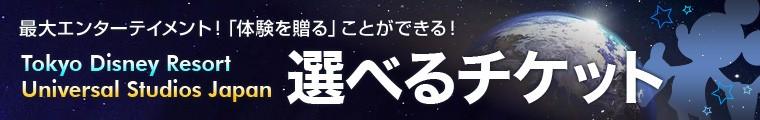 ディズニーorUSJ 選べるチケット