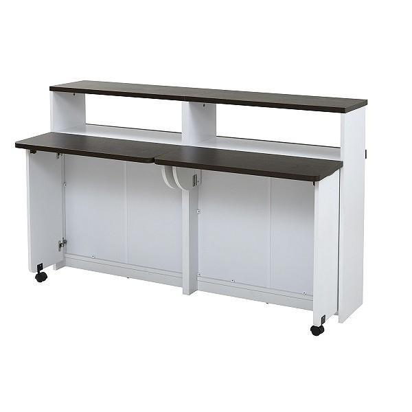 間仕切り 収納 両面収納 幅150 間仕切りキッチンカウンター 150cm幅 収納家具 キッチン収納 食器棚 折り畳み バタフライ テーブル|momoda|11
