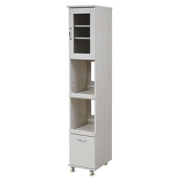 スリム キッチンラック キッチンワゴン 隙間タイプ レンジ台 食器棚 レンジラック 幅 32.5 H180 キッチン 収納 すきま収納 キャスター 棚 収納棚 momoda 08
