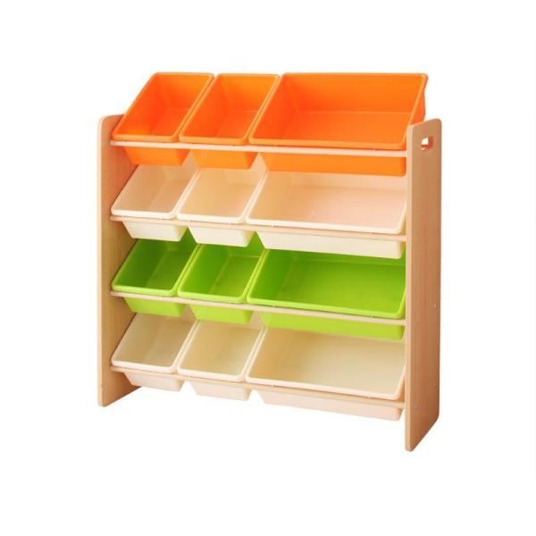 おもちゃ収納 おもちゃ箱 こども部屋収納 キッズ家具 子供部屋 木製 おしゃれ 人気 かわいい 4段 mon-tana 08