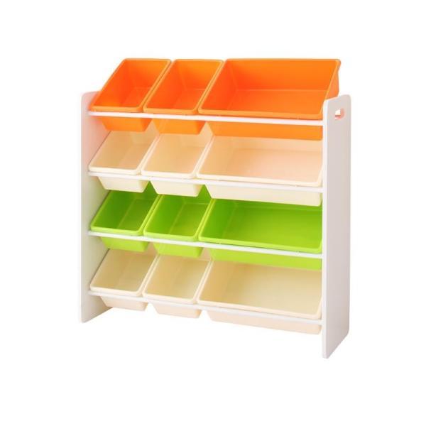 おもちゃ収納 おもちゃ箱 こども部屋収納 キッズ家具 子供部屋 木製 おしゃれ 人気 かわいい 4段 mon-tana 09