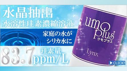 リンクス umo plus (ウモプラス) 水晶抽出 水溶性 珪素濃縮溶液