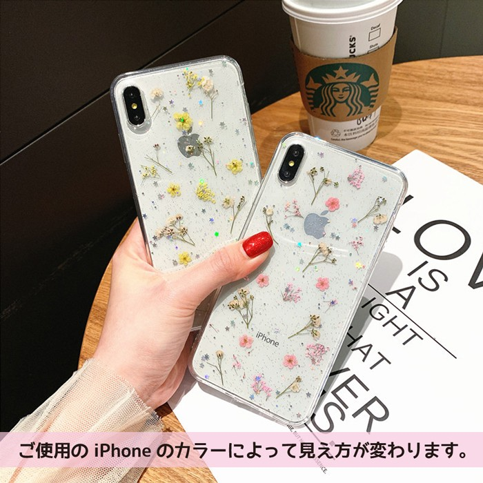 iPhone ケース iPhone XSMax iPhone XR iPhone X iPhone XS iPhone 8 iPhone 7 Plus クリア ソフト シンプル 透明 フラワー06