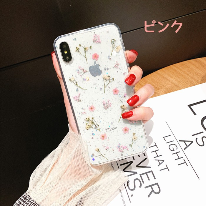 iPhone ケース iPhone XSMax iPhone XR iPhone X iPhone XS iPhone 8 iPhone 7 Plus クリア ソフト シンプル 透明 フラワー09