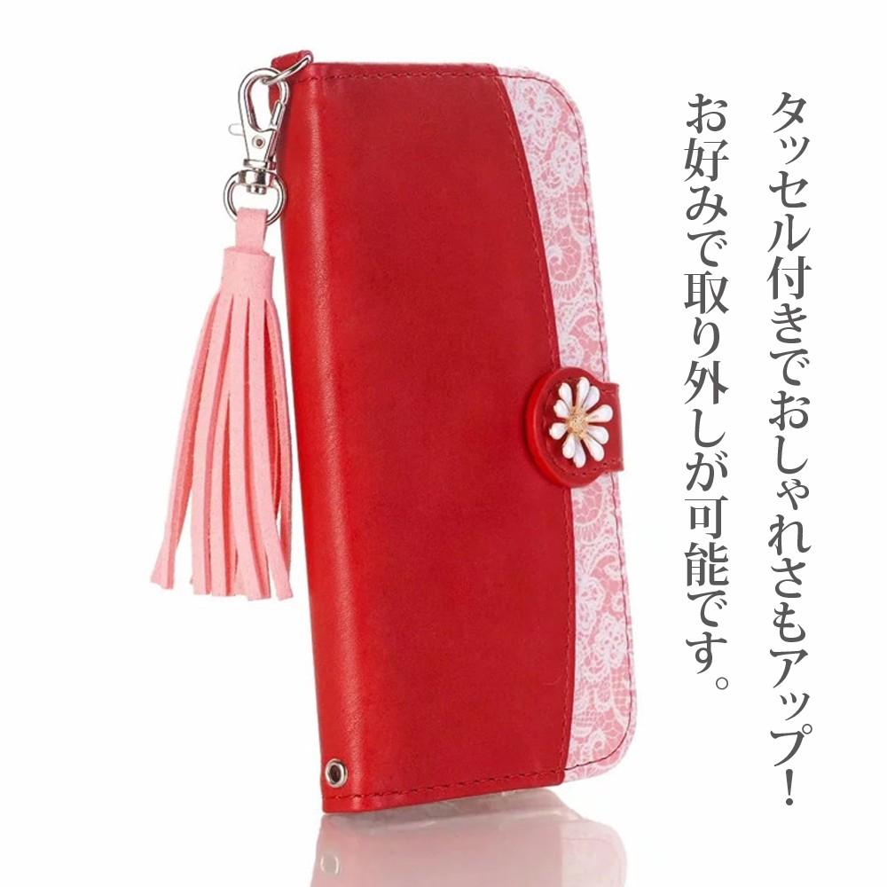 手帳型 ケース iPhone 11ProMax iPhone11Pro iPhone11 花柄 タッセル付き カード収納03