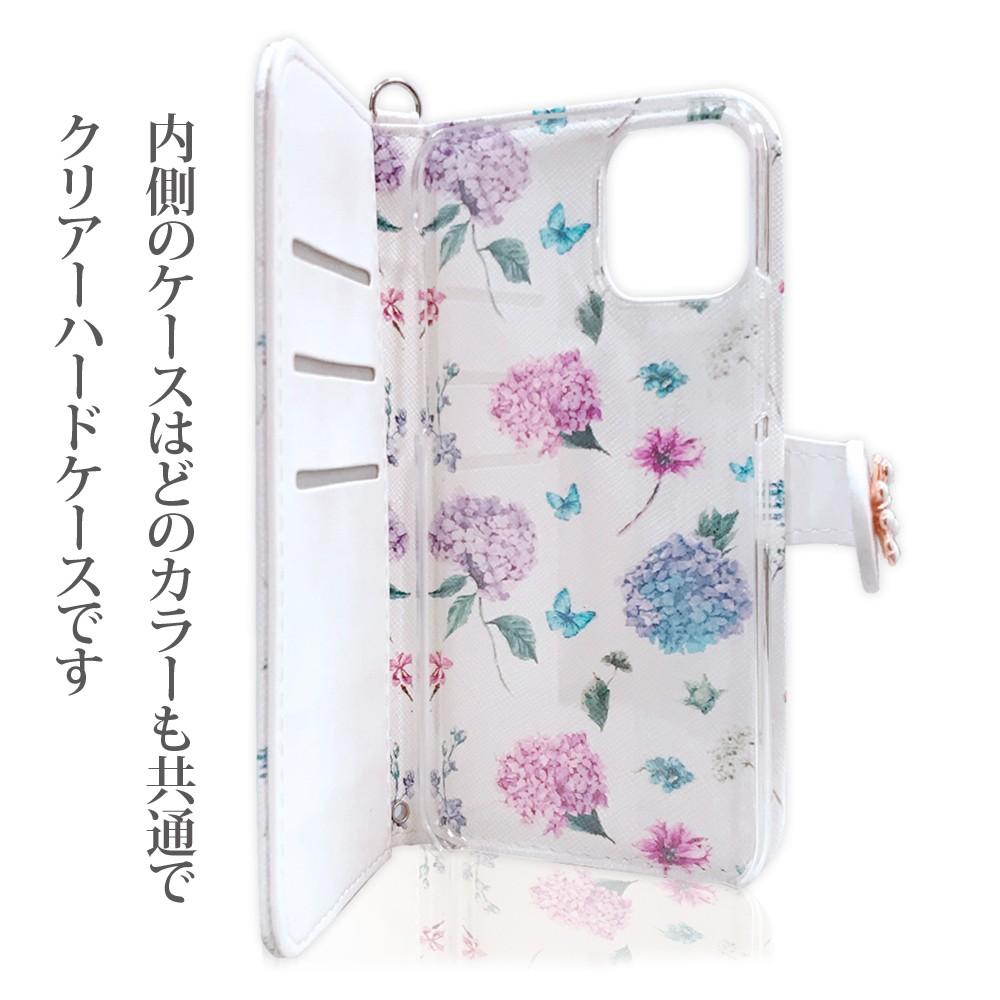 手帳型 ケース iPhone 11ProMax iPhone11Pro iPhone11 花柄 タッセル付き カード収納04