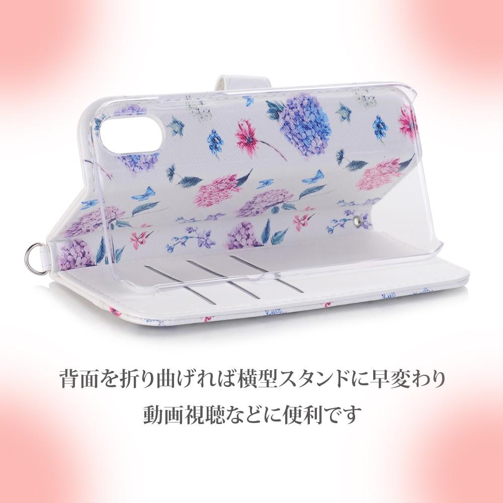 手帳型 ケース iPhone 11ProMax iPhone11Pro iPhone11 花柄 タッセル付き カード収納08