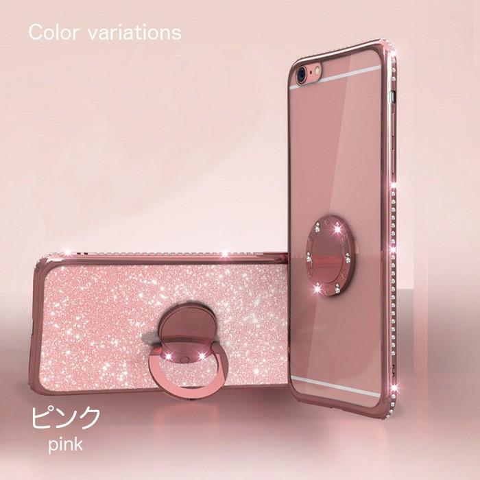 iPhoneX ケース iPhone8 iPhone7 iPhone8Plus iPhone7Plus リング付きケース キラキラ ラインストーン6
