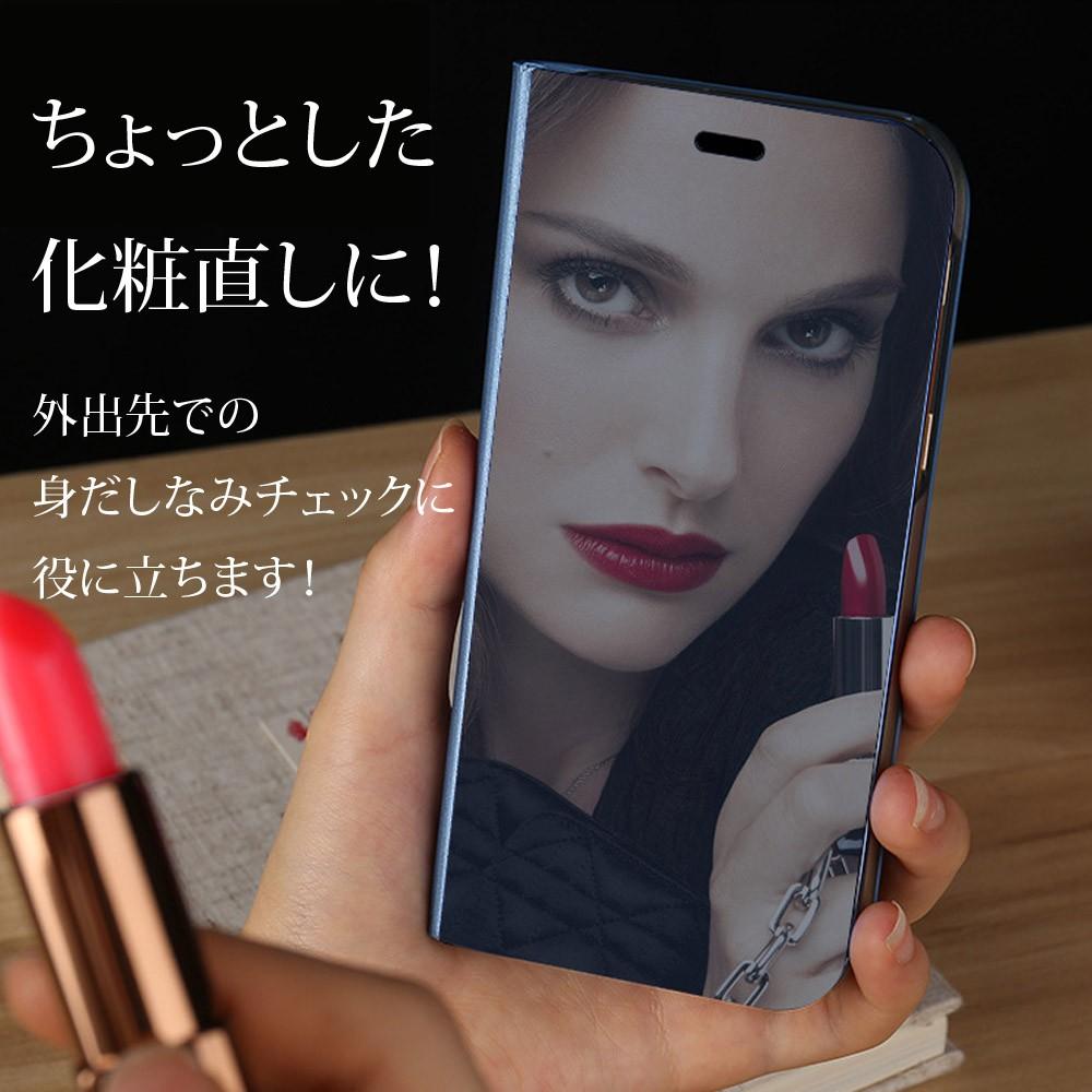 手帳型ケース iPhoneX iPhone8 iPhone7 iPhone8Plus iPhone7Plus ケース ミラー 鏡面 クリア3